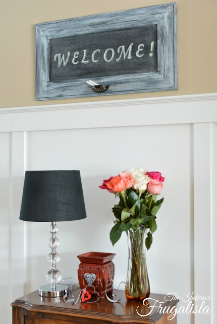 Chalkboard Welcome Sign Makeover