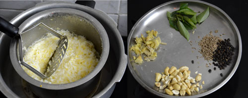 how to make ven pongal in pressure cooker
