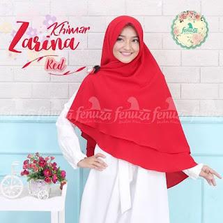 Khimar Fenuza Zarina Np Red