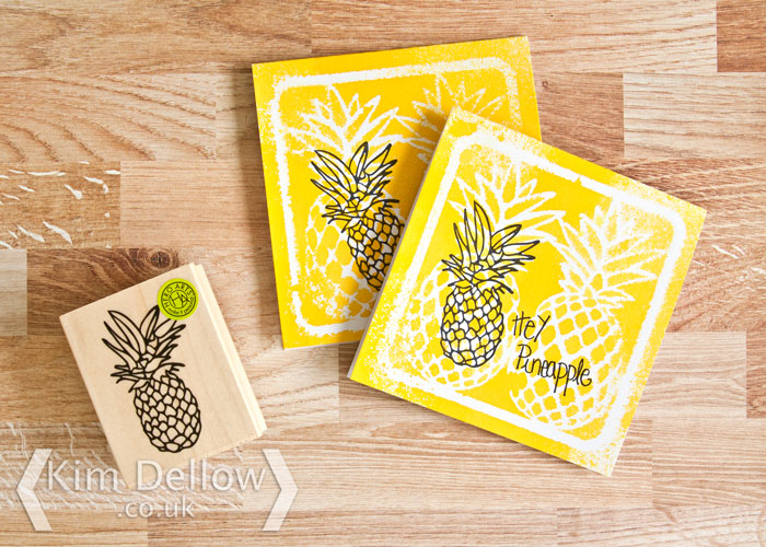 Pineapple invite cards by Kim Dellow