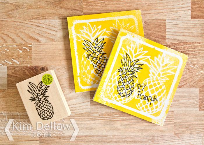 Pineapple invite cards by Kim Dellow