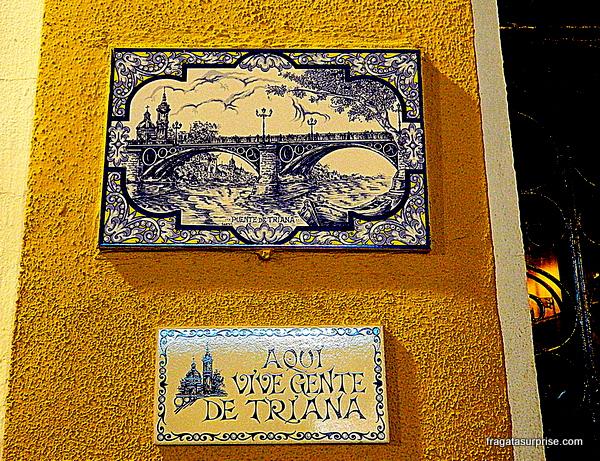 Fachada típica do bairro de Triana, em Sevilha