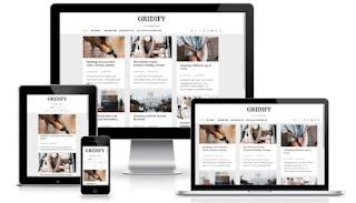 gridify blogger template