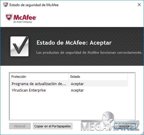 McAfee VirusScan Enterprise imagenes