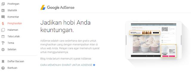 Cara Daftar Adsense Hosted Blogger