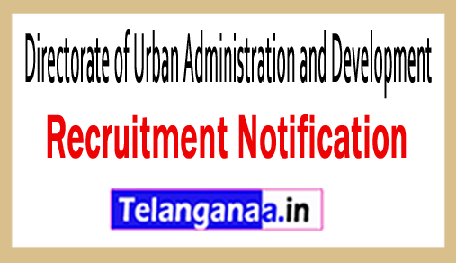 Directorate of Urban Administration and Development Recruitment