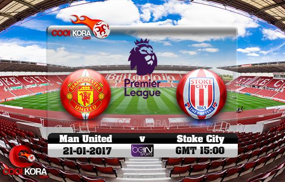 مشاهدة مباراة ستوك سيتي ومانشستر يونايتد اليوم 21-1-2017 في الدوري الإنجليزي