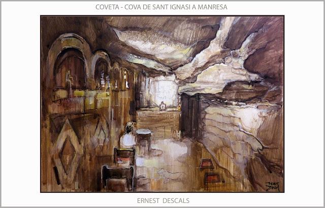 COVETA-COVA-SANT IGNASI DE LOIOLA-PINTURA-MANRESA-RUTA IGNASIANA-ART-MISTICA-PINTURES-ARTISTA-PINTOR-ERNEST DESCALS-