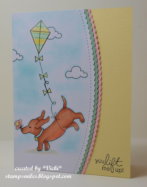 You lift me up by Vicki featuring Delightful Doxies and Spring Showers by Newton's Nook Designs, #newtonsnook