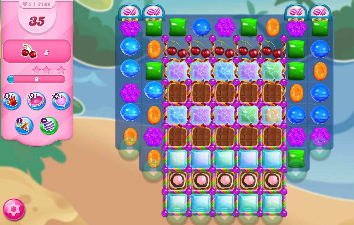 Candy Crush Saga level 7182