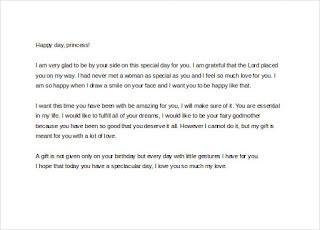 sample birthday letters for girlfriend