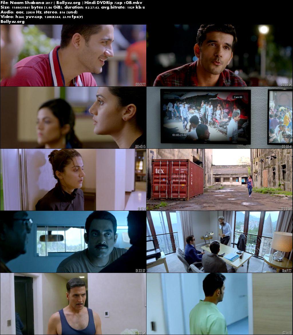 Naam Shabana 2017 DVDRip 1Gb Full Movie Hindi 720p Download