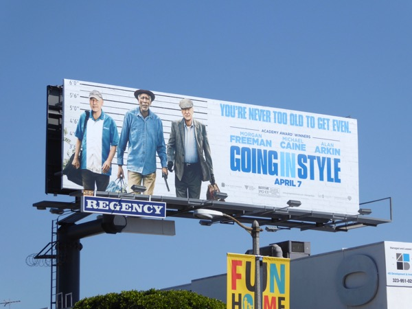 Going in Style film remake billboard