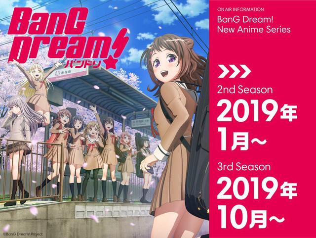 Anime BanG Dream! tendrá dos nuevas temporadas en 2019