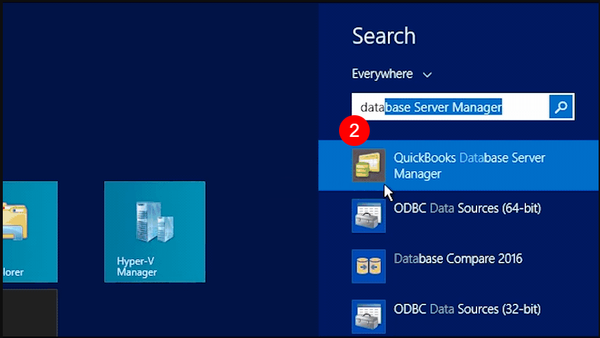 Quickbooks database server manager firewall ports