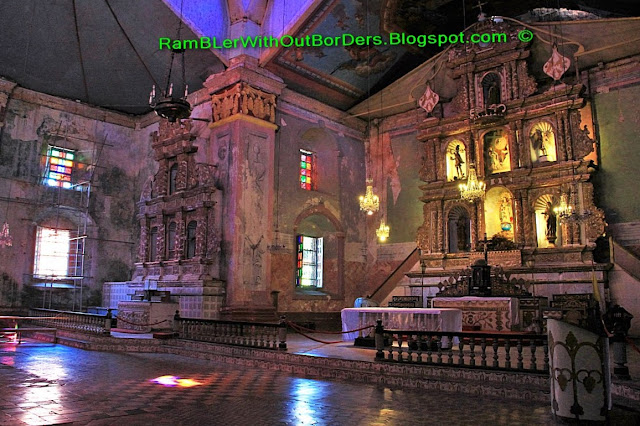 Interior, Baclayon Church, Bohol, Philippines