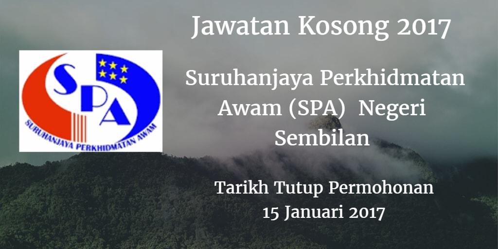 Jawatan Kosong SPA Negeri Sembilan 15 Januari 2017