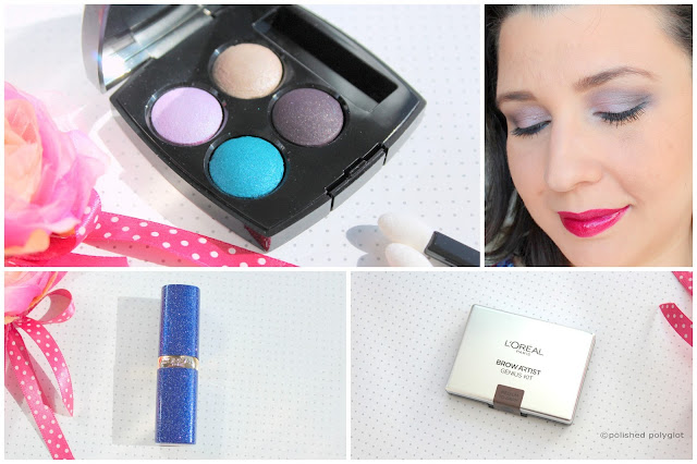 Date night look in mauve and teal