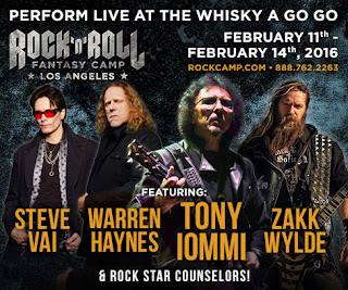 Rock and Roll Fantasy Camp with Tony Iommi, Zakk Wylde, Steve Vai and Warren Haynes in Los Angeles, CA