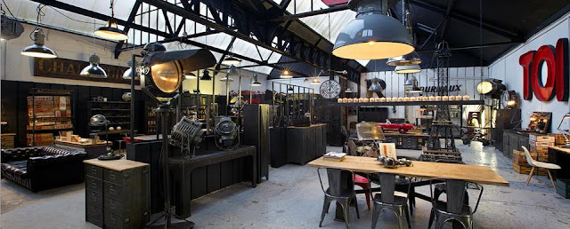 La brocanterie c 39 est chic al m s puro estilo industrial for Muebles estilo industrial madrid