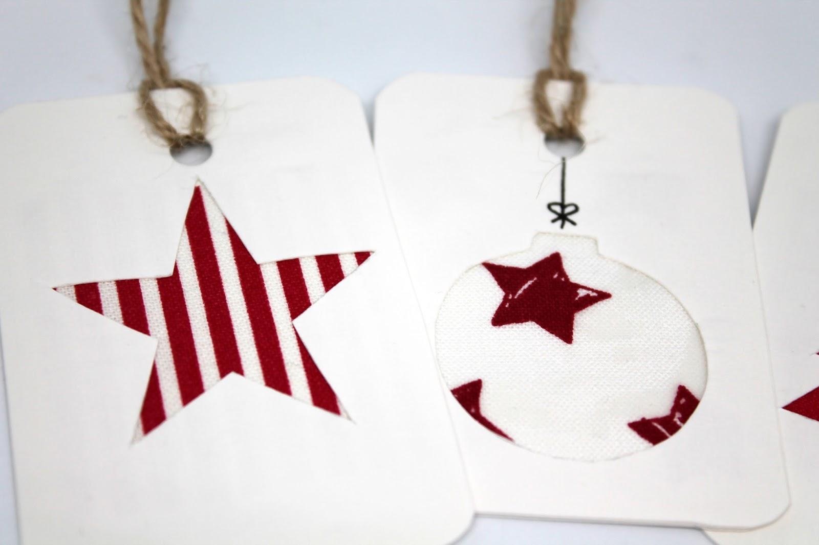 DIY, Basteln: Weihnachtsgeschenkanhänger mit Stoff, Mitbringsel, Weihnachtsgeschenk und Geschenkideen - DIYCarinchen