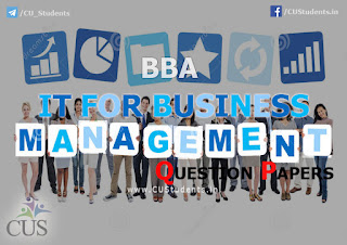 BBA IT For Business Management Previous Question Papers
