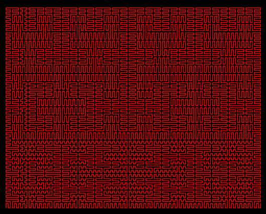 Pseudo Hilbert Curve for Arbitrary Rectangular Regions - Part 1