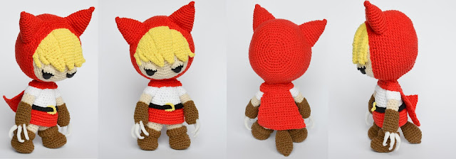 Krawka: Little red riding wolf crochet pattern by Krawka - forest warrior wolf princess