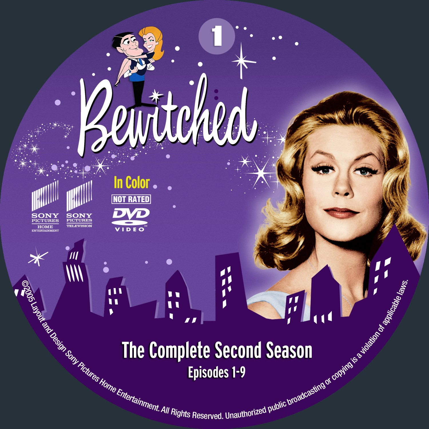 Bewitched Season 2 Disc1-5 DVD Label