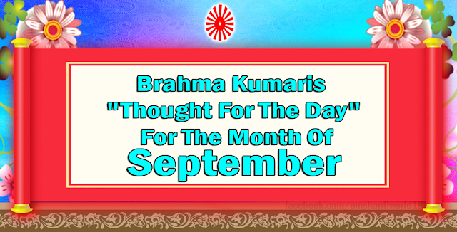 Thought For The Day for the Month of September