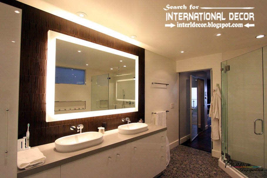 Contemporary bathroom lights and lighting ideas for Bathroom lighting designs