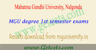 MGU Nalgonda degree 1st sem result 2018,mg university degree 1st semester results 2018