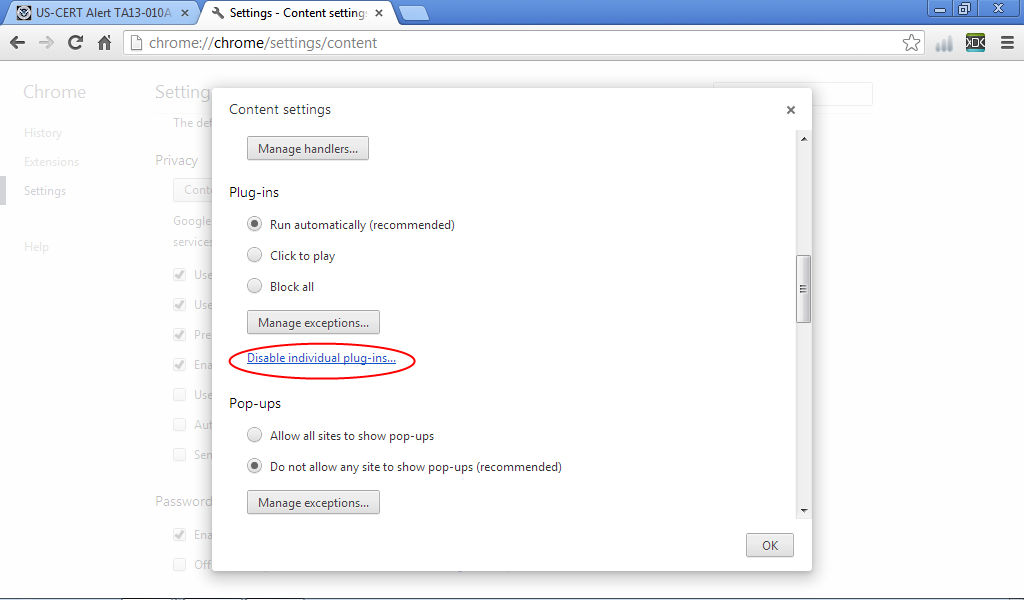 Java-Buddy: How to Disable Java in Chrome