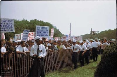Derechos Civiles de marzo de 1963 foto retocada a color