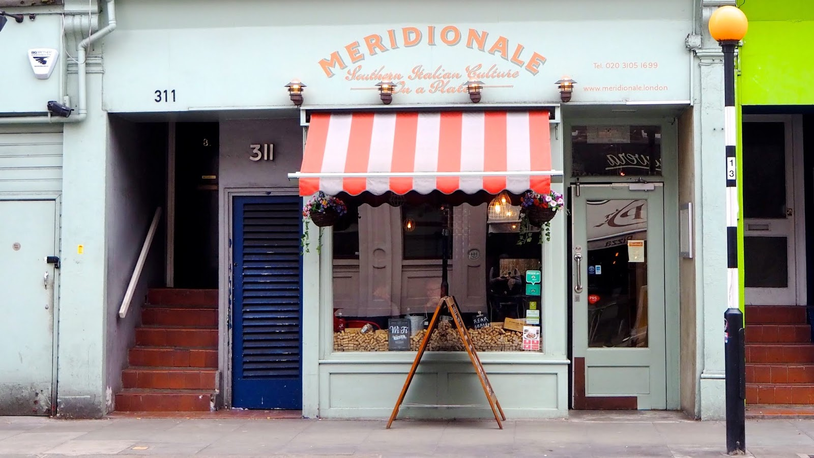 Meridionale Italian Restaurant storefront on Kings Road in Fulham