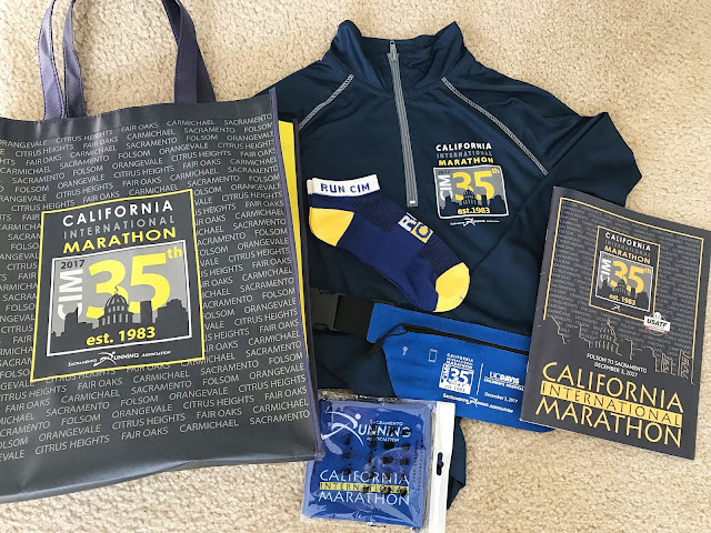 California International Marathon (CIM) Race Swag 2017