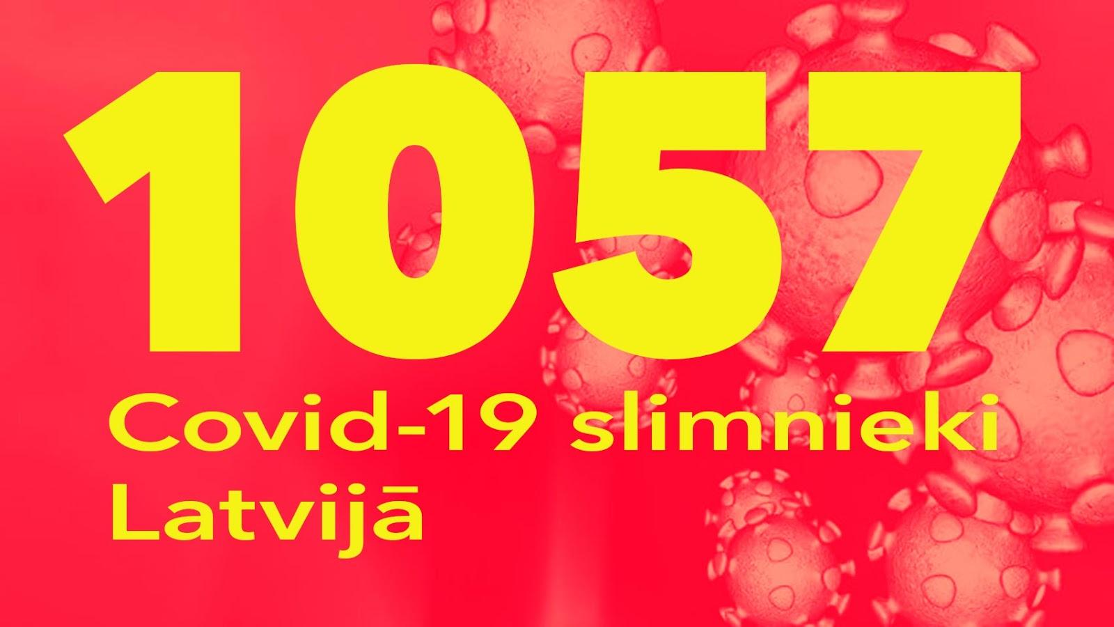 Koronavīrusa saslimušo skaits Latvijā 27.05.2020.