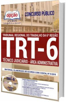 Apostila TRT 6ª Região 2018 - Técnico Judiciário