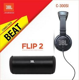 Exclusive Combo Pack: JBL Flip 2 + C300 SI Speaker + Headphone for Rs.6499 only @ Flipkart