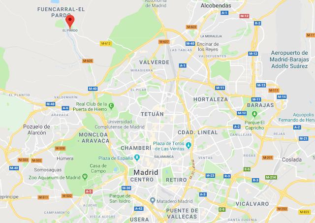situación de El Pardo en Madrid