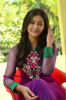 Actress Pooja Jhaveri Latest Stills in Purple Salwar Kameezt at Dwaraka Success Meet  0206.JPG