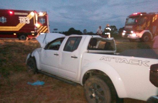 Acidente com camionete de Itaiópolis na BR 280