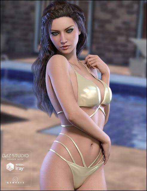 Irelia - Character and Bikini Set for Genesis 3 Female