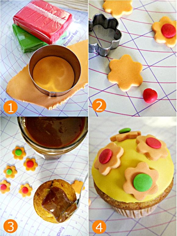 DIY Pinata Dulce de Leche Fiesta Cupcakes for Birthdays or Cinco de Mayo - BirdsParty.com