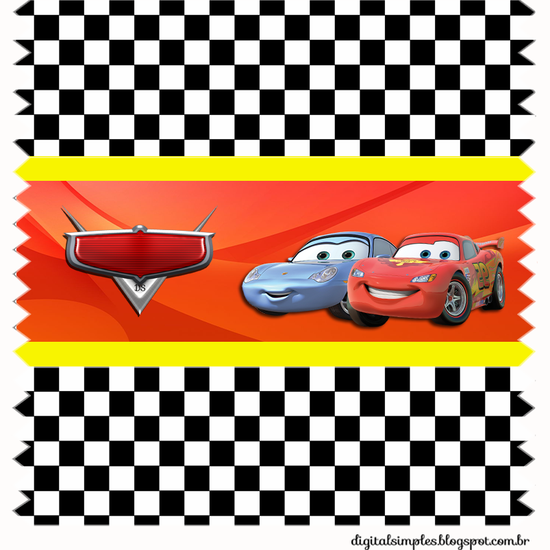 Etiquetas de Fiestas de Cars  para imprimir gratis.