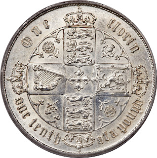 British Silver Coins Florin