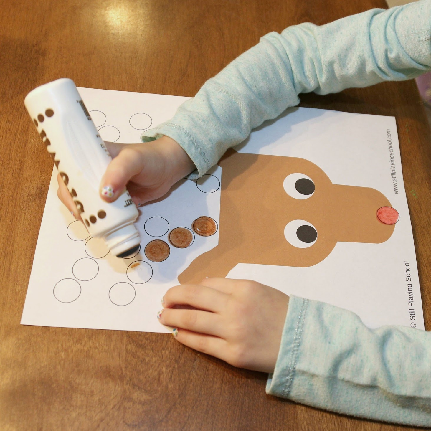 Reindeer Christmas Dot Marker Activity