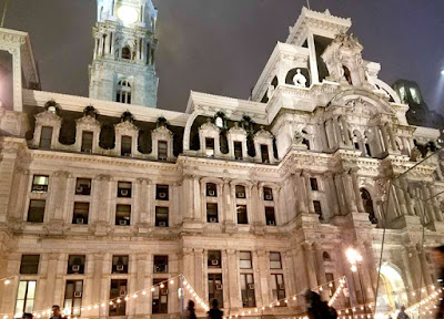 Philadelphia City Hall in Pennsylvania at Christmas
