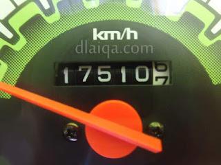 odometer awal = 17510,6