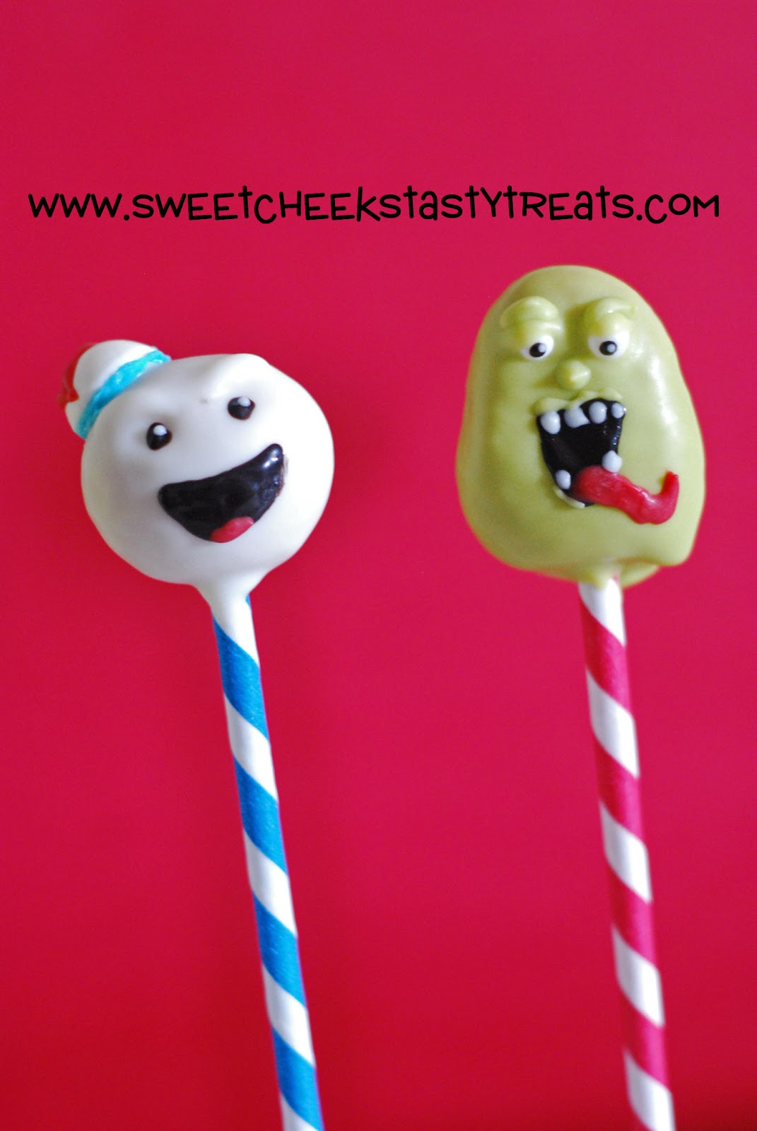 Ghostbusters Cake Pops